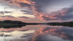 0440 Magic Clouds (Hrvoje Simich - gaZZda) Tags: landscape waterscape water reflection longexp beautiful colorful red pink blue nikon nikond750 nikkor28803356 josavalake croatia hrvojesimich gazzda