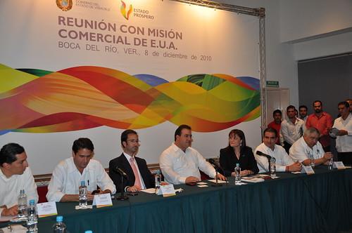 El gobernador Javier Duarte de Ochoa acude a Reunión con Mision comercial de EUA