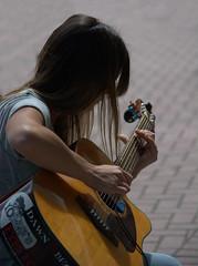 Harmonics (swong95765) Tags: lady female pretty musician guitar harmonics tips performer