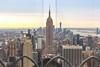Through the looking glass (s1ss0r) Tags: sunrise street travel skyline newyorkcity urban architecture building empirestatebuilding blue nyc