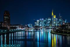 FRANKFURT SKYLINES (01dgn) Tags: frankfurtskylines frankfurt frankfurtammain hessen germany almanya deutschland colors city night nacht gece