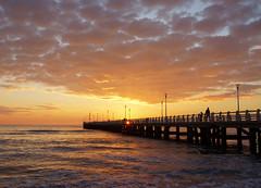 Sunset in Versilia (Darea62) Tags: sunset seascape skyscape pier bridge