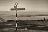 Heartbeat Country (robin denton) Tags: signpost northyorkmoors nationalpark northyorkmoorsnationalpark roadsign sepia monochrome niksoftware silverefex sign northyorkshire yorkshire