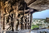 Vishnu Takes a Giant Step at Badami, India (Anoop Negi) Tags: vishnu badami karnataka india cave monolith sculptue hindusim iconograpy story bahubali anoop negi ezee123 town stone sandstone mahabali legend epic onam
