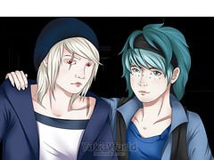Killian & Poe (Yuki~AstridDreams) Tags: dibujo draw digital sai oc poe killian friends albino bjd