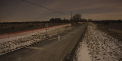 365-9 (• estatik •) Tags: 3659 365 9 january92017 jan 1917 night long exposure flemington nj new jersey hunterdon county three bridges train crossing country fields field street road distance nighttime darkness alone lonely panorama rockafellow rd raritan