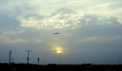 Travelling (Khaled M. K. HEGAZY) Tags: nikon coolpix p520 jeddah ksa kingdomofsaudiarabia nature outdoor closeup yellow blue white airplane silhouette sky cloud sun جدة المملكةالعربيةالسعودية