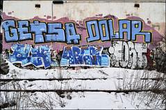 Querbes Getsa Dolar Blek Arcel Fost  Janvier 2016 DSR3373 (photofil) Tags: photofil graffiti streetart urbanart urban montreal montréal getsa dolar blek arcel fost