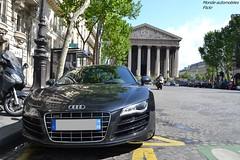 Audi R8 (Monde-Auto Passion Photos) Tags: auto automobile voiture véhicule audi r8 v8 coupé france paris gris supercar sportive