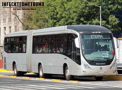 Marcopolo Viale BRT Proto-4 Metrobus (infecktedbusgarage) Tags: viale vialebrt marcopolo metrobus cdmx méxico mercedesbenz polomex proto4 articulado brt busrapidtransit l3 ciudaddemexico mexico mexicanbus mexican