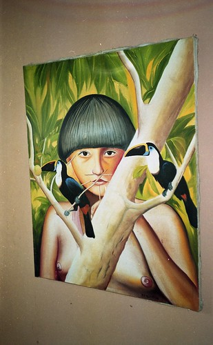 Native Indian depicted at the museum in Puerto Ayacucho