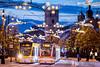 Good morning Debrecen! (_tsos) Tags: sunrise city winter church tram cityscape lights dawn tél város blue hours hajnal napkelte villamos debrecen hungary magyarország center belváros csonkatemplom kistemplom díszvilágítás