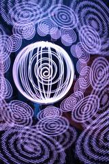 Post-hiatus tool testing. (- Hob -) Tags: lightpainting longexposure singleexposure led orb handheld spiral circles addressable frankenstick faffing procrastinating sooc nophotoshop nopostprocessing 9874