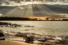 Let there be light (bjdewagenaar) Tags: water waterscape river merwede dutch gorinchem gorcum beach landscape clouds sky sun nature sony minolta 28mm prime raw lightroom