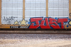 Just4Fun (Chicago City Limits) Tags: freight train graff graffiti benching rails railroad benched freights fr8s art artwork motion steel trains tracks auto racks rack autorack autoracks holy roller rollers just4fun