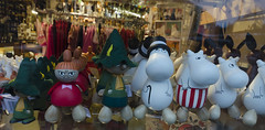 Moomins in one of the very few tourist shops (RedPlanetClaire) Tags: helsinki finland scandinavia europe winter capital city north moomins