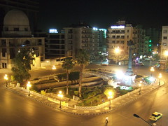 Al Merjeh, Damascus (phool 4  XC) Tags: night traffic f10 syria damascus     phool4xc