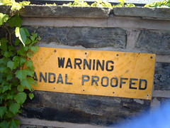 View Warning! Vandal proofed! on Flickr