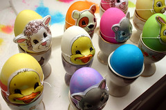 Easter Eggs With Masks (adobemac) Tags: dog rabbit colors cat easter duck mask florida masks eggs lamb dye eastereggs maitland kapport
