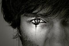 When the tears are not enough (Ali K.) Tags: bw selfportrait eye true topf50 topf75 tears autoportrait emotion deep nb topf300 fave topf125 topf150 theface topf400 topf500 topf600 bwdreams abigfave httpalikaragoznet