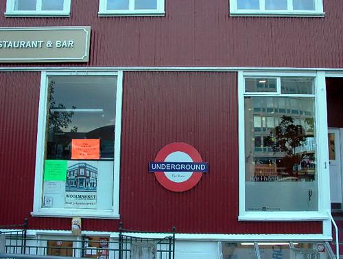london underground logo. Underground Logo in a bar in