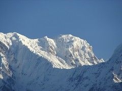 Annapurna mountain range in the Himalayas Nepal (Brian A Petersen) Tags: nepal mountain snow trekking climb asia background brian south peak ridge summit meter pokhara annapurna himalayas himalayan nepali 8000 petersen trekker bpbp brianpetersen brianapetersen