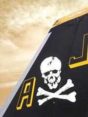 F-18 Tail Art (Acme Explosives) Tags: sky j tail navy airshow f18 skullcrossbones crackhead superhornet tailart willowgroveairshow