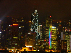 HSBC - Hong Kong at night (JAMES HALLROBINSON) Tags: hongkong atnight hsbc