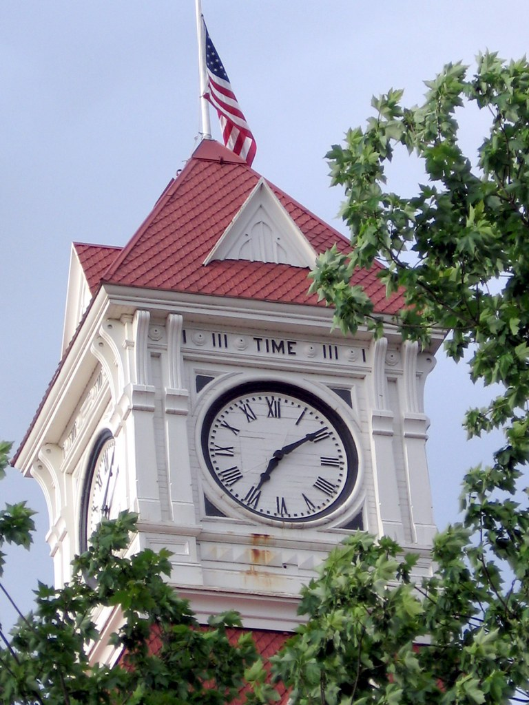 "Why Does the Benton County, Oregon Courthouse Clock Tower Say ""Time""? It is a Riddle. Can You Solve It?"