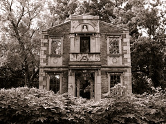 The Heigold Facade (deatonstreet) Tags: house abandoned nature architecture james decay kentucky ruin forgotten buchanan historical louisville modernruins heigold