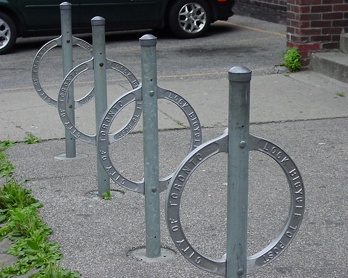 Post and ring bike racks