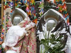 Snowy Jizo Statues