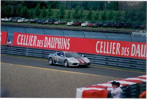 Ferrari 360 Modena Yellow. A silver Ferrari 360 Modena