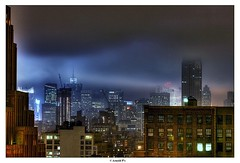 Long After Midnight... (Arnold Pouteau's) Tags: nyc newyorkcity newyork clouds manhattan spooky midtown esb outsidethewindow aftermidnight