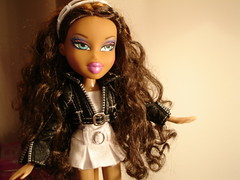 Bratz Nevra Black & White (callme_crochet) Tags: white black beautiful leather catchycolors photography interestingness doll flickr catchycolours lol awesome jacket thebest bratz flickrs flickys nevra anawesomeshot
