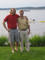 jared and i and a boat (andrewrosenstock) Tags: vacation vermont 4th july 2006 andrew rosenstock