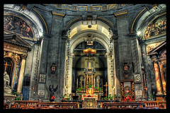 The Haunting Interior of the Basilica (Stuck in Customs) Tags: world travel light italy milan art church beautiful architecture photography photo florence nikon san colorful pretty cross dynamic cathedral interior basilica gorgeous d2x dream fresh altar divine professional adventure international photograph lorenzo sacred stunning haunting sanlorenzo top100 charming foreign fabulous technique renaissance hdr tutorial trey artisitic engaging travelphotography ratcliff d2xs hdrtutorial stuckincustoms basilicaofsanlorenzo imagekind treyratcliff focuspocus stuckincustomsgooglescreensaver curtissimmons