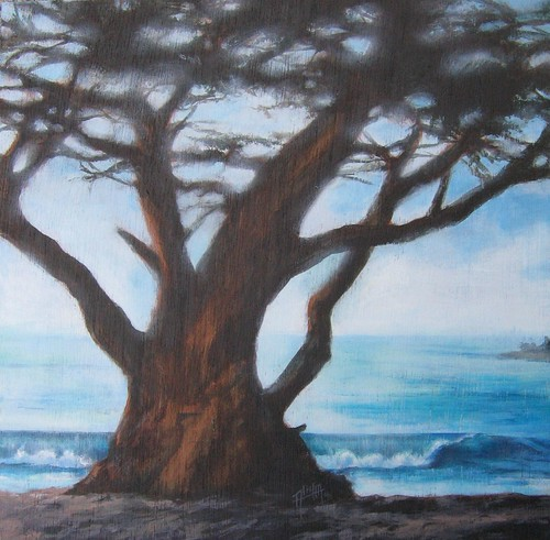Carmel-and-Her-Tree_14x14