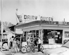 Children at Dairy Queen (1957) (dogwelder) Tags: recreation zurbulon6 dairyqueen sanfernandovalley losangelespubliclibrary moorpark northhollywood reshoot photocollection zurbulon gatturphy referencepic