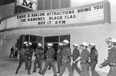 Police arriving at Palladium (1986) (actually 1984) (dogwelder) Tags: california marquee concert july police 2006 hollywood theramones zurbulon6 palladium sunsetblvd blackflag kroq reshoot zurbulon gatturphy garyleonard reshootproject referencepic