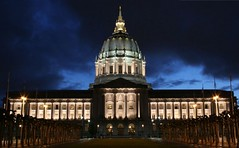 City Hall (A Sutanto) Tags: sanfrancisco california city longexposure blue sky urban usa cloud night twilight dusk cityhall dome government abigfave