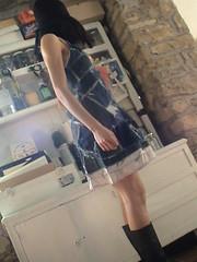 sottoveste con appl. jeans (veroniquecreddo) Tags: fashion dress recycled jeans denim cloth sottoveste