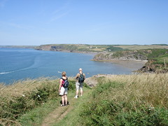 Coast path, with Broad Haven in the distance