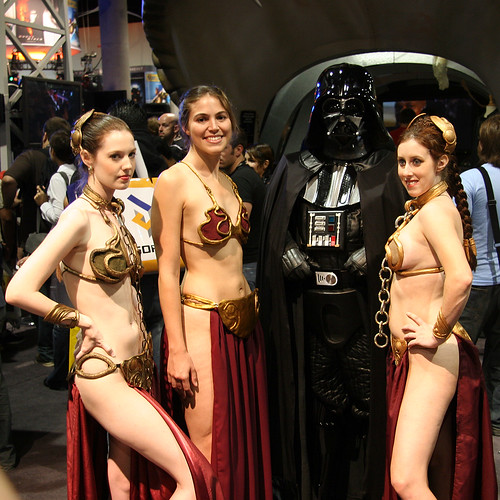 Darth Vader with Princesses Leia