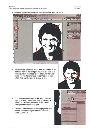 Tutorial - How to make stencils from photographs page 3
