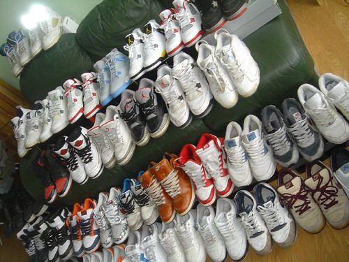 a lot of shoes