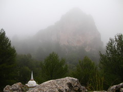 Ordination Stupa and Phoenix in mist