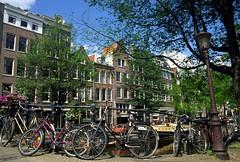Egelantiersgracht (ClydeHouse) Tags: bridge amsterdam bicycle canal velvia brug gable fiets gracht egelantiersgracht byandrew
