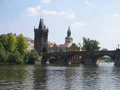 Old Town Bridge Tower And Charles Bridge (Ryan Hadley) Tags: bridge tower architecture river europe prague worldheritagesite czechrepublic charlesbridge vltava rivercruise karlůvmost vltavariver oldtownbridgetower