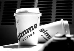 Cappuccinos (clintnosleep) Tags: bw coffee office 2006 gimme ithaca cappuccino 200607